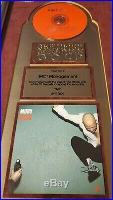 MOBY Play CRIA Gold Sales Record Award Electronic Dance Music EDM Rare non RIAA