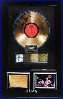MOUNTAINSigned Corky Laing Gold Record Award Presented To MountainWOODSTOCK