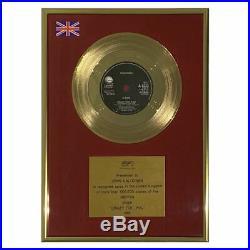 Madonna 1985 Crazy For You Geffen Records/BPI Gold Record Award (UK)