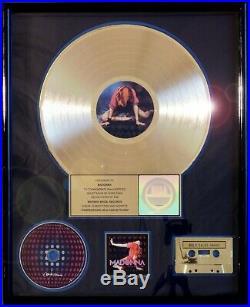 Madonna Confessions Riaa Record Award Gold Ciconne Like A Virgin Rare