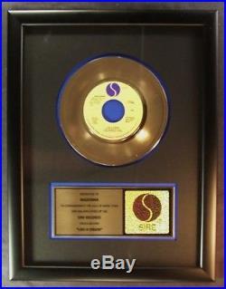 Madonna Like A Virgin 45 Gold Non RIAA Record Award Sire Records To Madonna