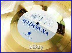 Madonna True Blue Riaa Record Award To Patrick Leonard Promo Display Herb Ritts