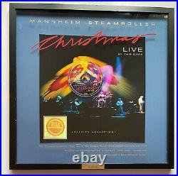 Mannheim Steamroller Christmas Live by Chip Davis RIAA Framed Gold Record Award