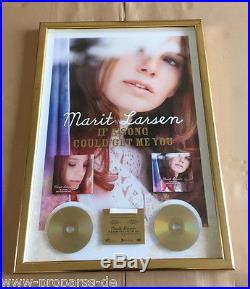 Marit Larsen Doppel Gold Award -goldene Schallplatte- If a song could get me you