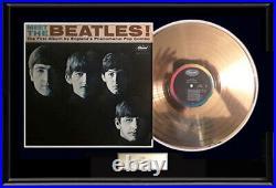 Meet The Beatles Gold Metalized Vinyl Record Lp 1964 Album Not An Riaa Award