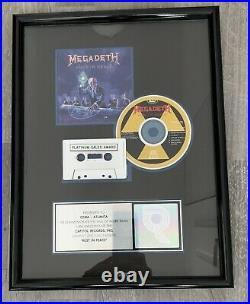 Megadeth RIAA Rust In Piece Gold Record Plaque Award