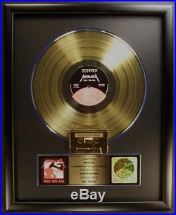 Metallica Kill'Em All LP & Cassette Gold Non RIAA Record Award Elektra Records