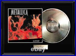 Metallica Load White Gold Silver Platinum Toned Record Lp Non Riaa Award Rare