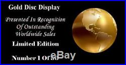 Metallica Master Of Puppets CD Gold Disc Vinyl Record Award Display Lp