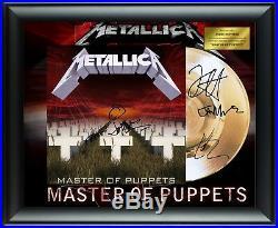 Metallica Signed Master of Puppets Album LP Gold Record Award James Hetfield