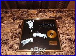 Michael Buble Framed German Gold Record CD Sales Award Call Me Irresponsible WOW
