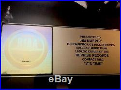 Michael Buble Gold Record Award Its Time RIAA
