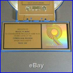 Michael Damian Rock On 1989 Gold 45 RPM Single Riaa Certified Sales Award