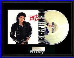 Michael Jackson Bad Album White Gold Silver Platinum Tone Record Non Riaa Award
