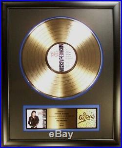 Michael Jackson Bad LP Gold RIAA Record Award Epic Records To Michael Jackson ff