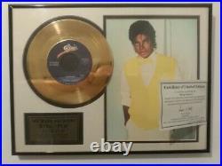 Michael Jackson Billie jean gold record award official