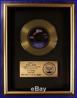 Michael Jackson Don't Stop Til You Get Enough 45 Gold RIAA Record Award Epic
