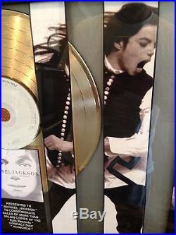 Michael Jackson Invincible Gold Record Album Disc Music Award MTV Grammy RIAA