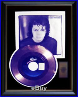 Michael Jackson Man In The Mirror Rare Gold Record Award Disc & 45 RPM Sleeve