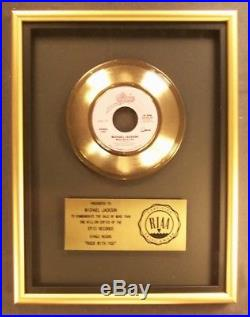 Michael Jackson Rock With You 45 Gold RIAA Record Award Epic Records To Michael