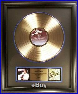 Michael Jackson Thriller LP Gold Non RIAA Record Award Epic Records To Michael