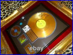 Mick Jagger Signed RIAA Gold Record Award Rolling Stones Exile on Main St Album