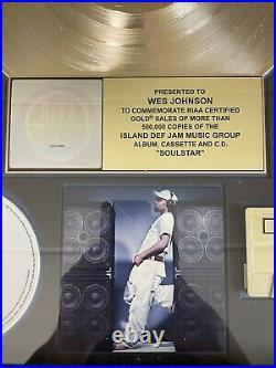 Musiq Soulchild Soulstar Gold Record RIAA Award to (Wes Party Johnson)