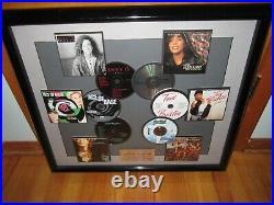 NICE! ARISTA RECORD AWARD framed cd music in house (non RIAA) gold platinum