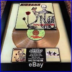NIRVANA Incesticide Gold Record Music Award Album Disc Kurt Cobain