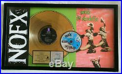 NOFX Punk In Drublic RIAA Gold Record Award Fat Mike LP CD Cassette Epitaph