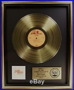 Neil Young Harvest LP Gold RIAA Record Award Reprise Records
