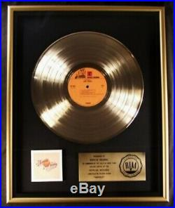 Neil Young Harvest LP Gold RIAA Record Award Reprise Records To Reprise Records
