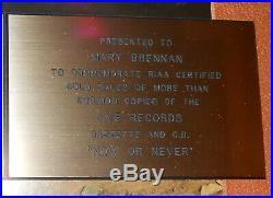 Nick Carter Backstreet Boys RIAA Gold Record Sales Award Now or Never