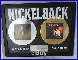 Nickelback RIAA Gold / Platin Award Silver side up + The State