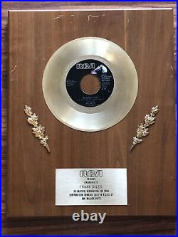 Nilssons Without You RCA Gold Record Award Owned By Frank DiLeo With LOA