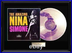 Nina Simone The Amazing Rare Gold Metalized Record Lp Album Non Riaa Award