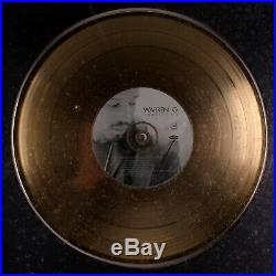 Official Warren G I Want It All Music Industry Gold Record Sales Award