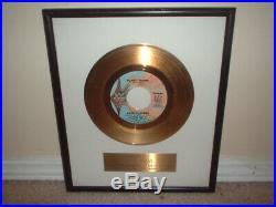 Ohio Players Gold Record Award White Matte 45 Funky Worm Non Riaa