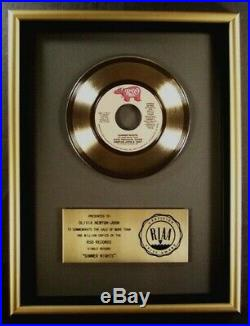 Olivia Newton-John & John Travolta Summer Nights 45 Gold RIAA Record Award