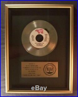 Olivia Newton John Travolta You're The One That I Want 45 Gold RIAA Record Award