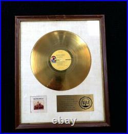Orig Black Oak Arkansas 1971 RIAA White Matte Gold Record Award