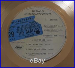 Original The Beatles RIAA Gold Record Award The Beatles At The Hollywood Bowl
