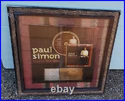 PAUL SIMON Gold Record Award for Your The One CD Cassette to Skip La Plante