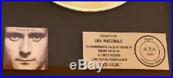PHIL COLLINS (Genesis) ORIGINAL GOLD RECORD in House AWARD Face Value