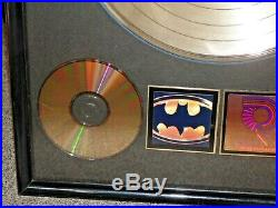 PRINCE Batman RIAA Gold Record Award