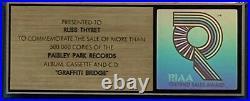 PRINCE Graffiti Bridge RIAA GOLD RECORD AWARD /FM WARNERS EXEC WHO SIGNED PRINCE
