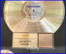 PRINCE Graffiti Bridge RIAA Gold Record Award 17x21