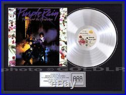 PRINCE PURPLE RAIN Platinum LP Record Award rare gold cd disc collectible gift