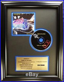 Panic At The Disco CD Gold Non RIAA Record Award Fueled By Ramen Records