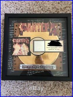 Pantera Reinventing the Steel Gold Record Award Dimebag Darrell RARE LOOK